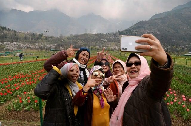 Selfies At Tulip Garden