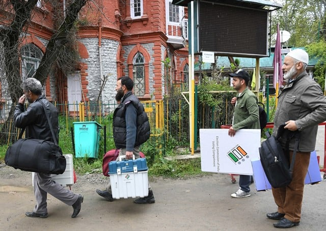 EVMs In Kashmir