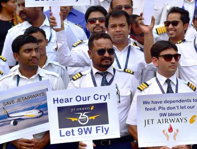 Jet Employees Stage Protest