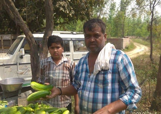 Cucumber Vendor In Amroha Rally