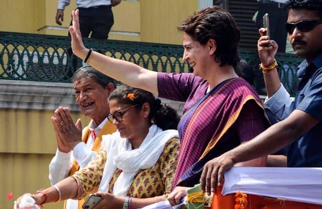 Harish Rawat With Priyanka Gandhi