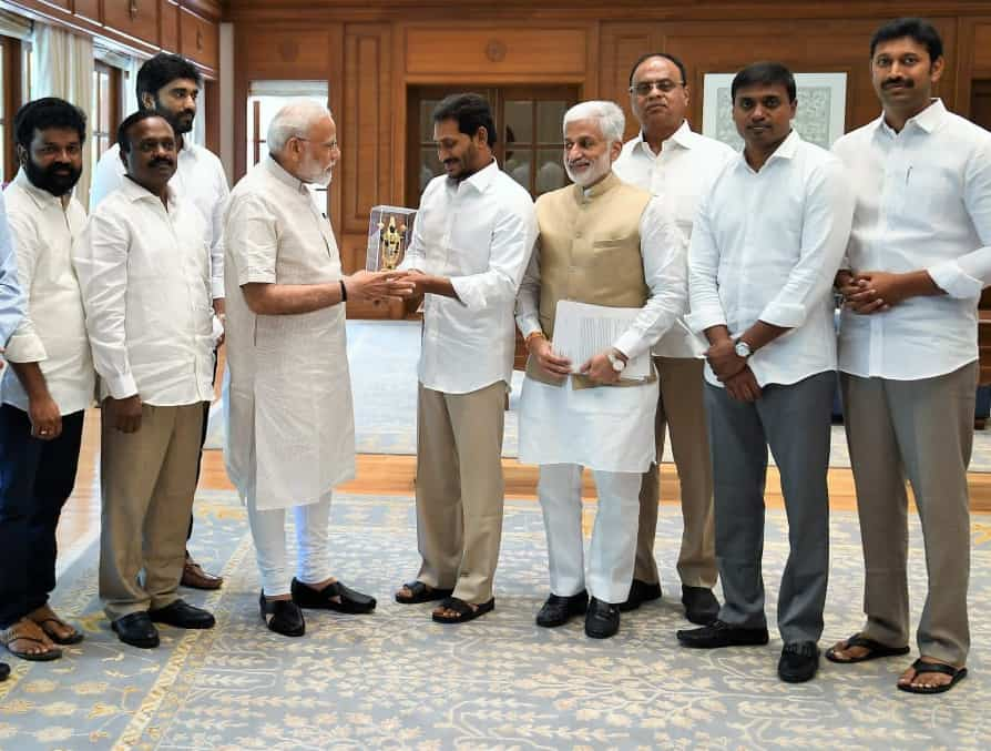 Jaganmohan Reddy With Narendra Modi