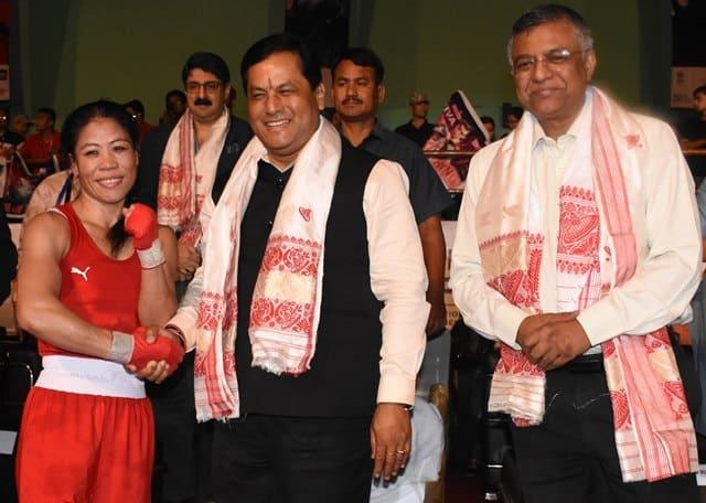 Sarbananda Sonowal Greets Mary Kom