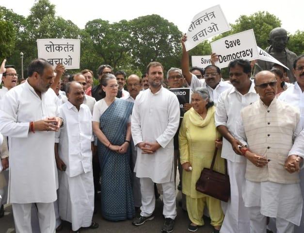 Congress Organises Save Democracy Protest