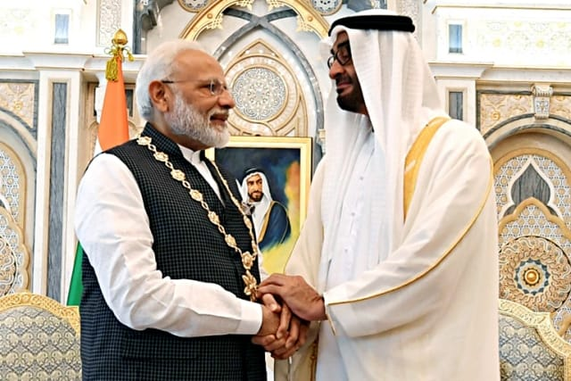 Modi Gets Order Of Zayed