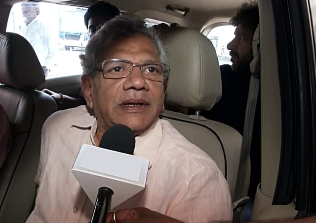 Yechury Returns From Kashmir