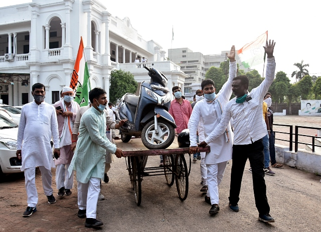 Protest Against Petrol Price Hike